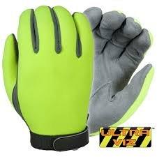 Damascus DNSLT UltraViz Unlined High Visibility Neoprene Gloves, Lime, Small