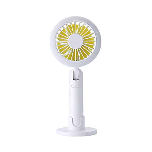 bosji Handheld Fan Portable Mini Fan with Reading Night Light Built-in 2000Mah Battery Long Lifetime 3 Speeds Adjustable Air Cooler (White)