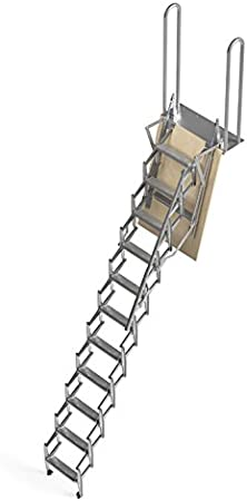 Mister Step UP Escalera escamoteable tipo tijera para altillos y ...