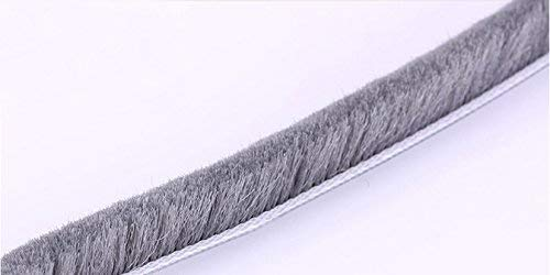 6mm Sliding DOOR Seal Strip Windproof Weatherstrip Draught Excluder Brush Pile