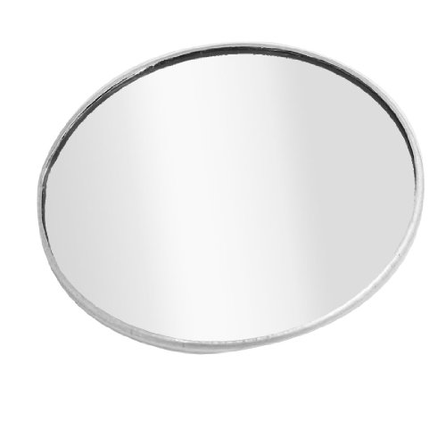 """3"""" Dia Round Shape Convex Rearview Blind Spot Mirror Silver Tone"""