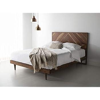 Amazon Com Zinus Paul Metal And Wood Platform Bed With