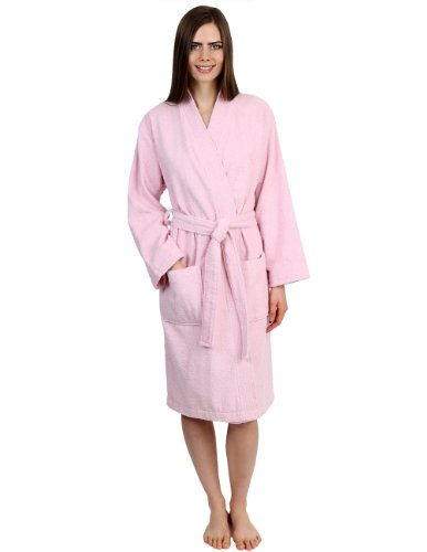 TowelSelections Women's Robe Turkish Cotton Terry Kimono Bathrobe Small/Medium Ice - Men Petite