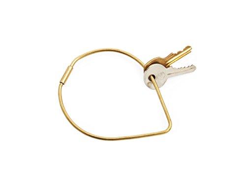 - Areaware Contour Key Ring (Drop, Brass)
