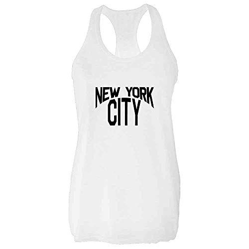 New York City Lennon Classic Halloween Costume White S Fashion Tank Top Tee for Women