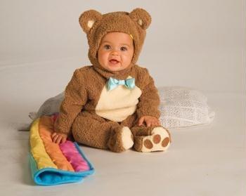 Oatmeal Bear W/rainbow Blankee - RU885356I (Baby Bunting Halloween Costume)