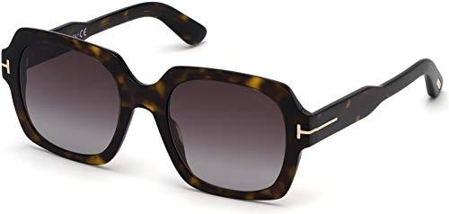 Tom Ford FT0660 52T Dark Havana Autumn Square Sunglasses Lens Category 3 Lens ()