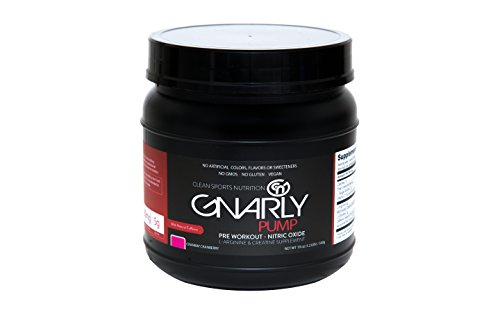 Gnarly Nutrition Pump Pre Workout Supplement || All Natural Nitric Oxide Booster (Crankin' Cranberry)