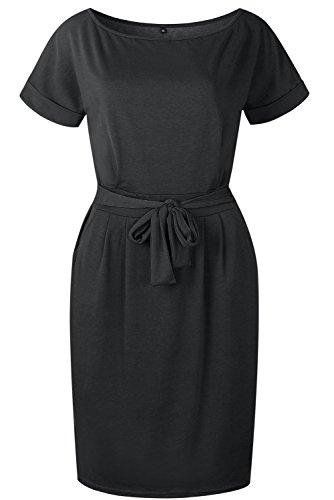 VEVESMUNDO Damen Gestreiftes Tunika Kleid Sommerkleid Freizeitkleid ...