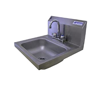 Griffin H30 224C Hand Wash Wall Mounted Sink With Faucet, Stainless Steel    Single Bowl Sinks   Amazon.com