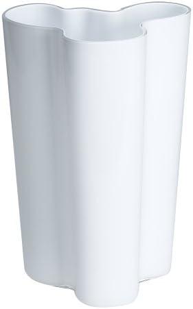 Iittala Finlandia 10-Inch White Glass Vase