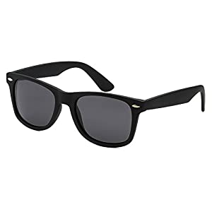Epic Brand Wayfarer Sunglasses Collection for Men and Women | Classic 80's Retro Vintage Fashion Timeless Style (Matte Black, Black 52mm Non-Polarized)