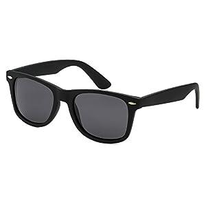 Epic Brand Wayfarer Sunglasses Collection for Men and Women | Classic 80's Retro Vintage Fashion Timeless Style (Matte Black, Black 52mm Non-Polarized)