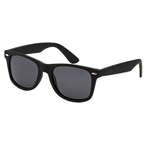 Epic Brand Wayfarer Sunglasses Collection for Men and Women | Classic 80's Retro Vintage Fashion Timeless Style (Matte Black, Black 52mm - Men Collection Sunglasses