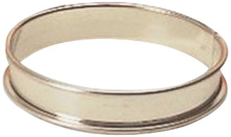 Matfer Bourgeat 371702 Small Flan Ring, Silver