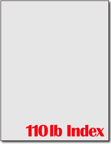 Index Grey Cardstock (110lb Index Grey Cardstock - 250 Sheets)