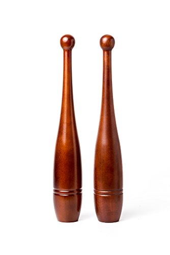 Rotational Clubs: 2lb Indian Clubs (Pair)- Solid Oak for sale  Delivered anywhere in USA