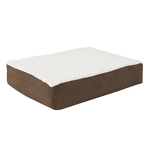 31GYYXCRNGL - PETMAKER Orthopedic Sherpa Top Pet Bed with Memory Foam and Removable Cover by