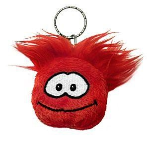 Disney Club Penguin Keychain 2 Inch Plush Puffle Red [Toy] ()