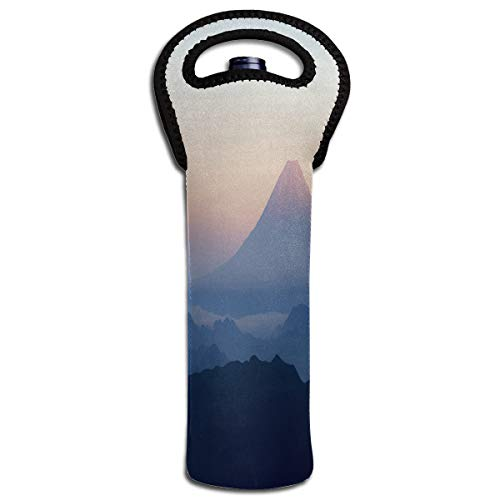 Wine Bag Wallpaper Mount Fuji 1 Beer Bottle Red Wine Tote Bag Protective Single Water Gift Carrier Handle ()