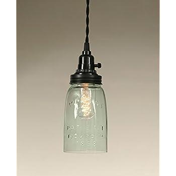 Quart open bottom mason jar pendant lamp rustic brown ceiling quart open bottom mason jar pendant lamp rustic brown mozeypictures Images