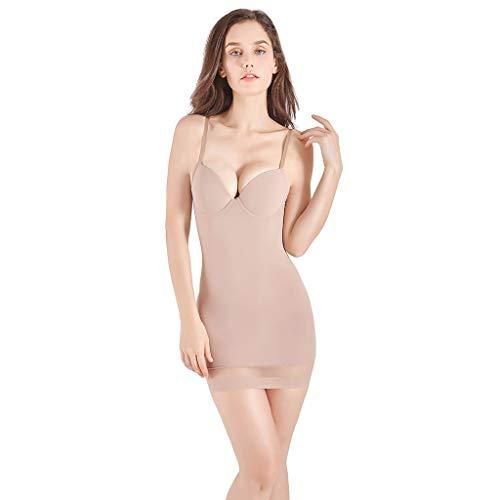 MTENG Women Waist Trainer Vest Breathable Shirt Weight Loss Body Ultra-Thin High-Waisted Control Shapewear Slim Body Shaper Dress(Beige,L)