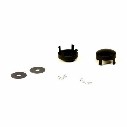 Chicco Viaro Stroller Replacement Black Wheel Kit - Hubcaps, washers, cotter pins by Chicco