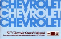1977 Chevrolet Chevy Car Owners Manual (with Decal)