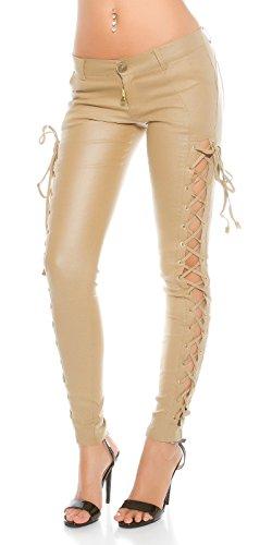 KouCla - Pantalón - para mujer Beige