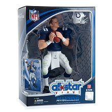 Peyton Manning 2008 NFL All Star 9 Inch Vinyl Figure Indianapolis Colts Action Figure with Toy Football and Trading Card   B001NAU1XW