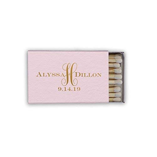 Monogrammed Personalized Matchbook Favors - Custom Wedding Matches - Birthday Matches - Printed 39