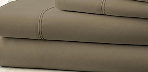 Hotel Comfort 1800 Count Deep Pocket 4 Piece Bed Sheet Set Taupe King