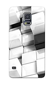 Hot Design Premium FqUEhhW2095oBtwO Tpu Case Cover Galaxy S5 Protection Case(view Abstract Black White Blocks Cgi Cubes )