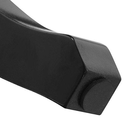Giantex Bathroom Vanity Makeup Table Set w/Tri-folding Mirror & Cushioned Stool Dressing Table (Black)