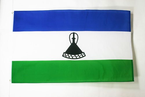 LESOTHO FLAG 2' x 3' - MOSOTHO – BASOTHO FLAGS 60 x 90 cm - BANNER 2x3 ft - AZ FLAG