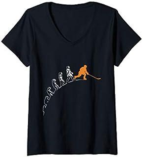 Best Gift Womens Evolution of Hockey Funny Hockey Ice Hockey Hockey Player V-Neck  Need Funny TShirt / S - 5Xl