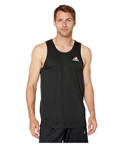 adidas Men's Sport Basketball Tank Top, Black/White, X-Large