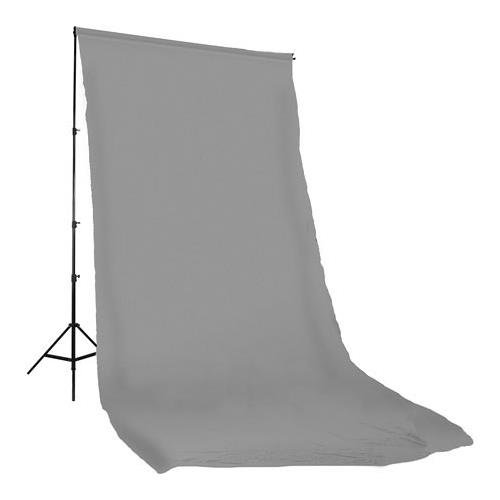 Photoflex Solid Color Series, 10x12' Dyed Muslin Background, Solid Grey Color.