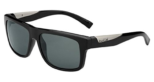 Bolle Clint Sunglasses, Shiny Black,Polarized TNS Oleo - Sunglasses Clint