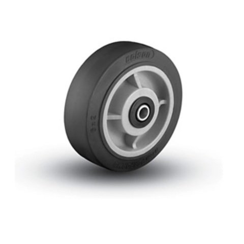 "Colson 6"" x 2"" Soft Rubber Wheel with 1/2"" ID Black Tread"