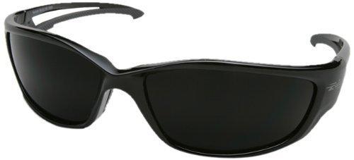 Edge Eyewear TSK-XL216 Kazbek XL Polarized Safety Glasses, Black with Smoke Lens (6 Pack) by Edge Eyewear