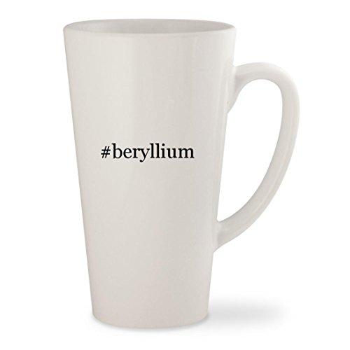 #beryllium - White Hashtag 17oz Ceramic Latte Mug Cup