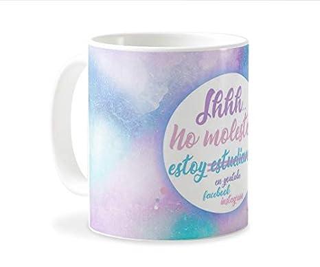 Personaliza tu carcasa Tazas de café o Desayuno con diseños de Latorita | Tazas de cerámica Blanca (AAA) | Taza con Frase - Shh. no Molestar, Estoy ...
