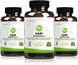 Hair Essentials Natural Herbs and Vitamins Hair Growth Supplement for Women and Men, 270 Count (Pack of 3) (Best Natural Vitamins For Hair Growth)
