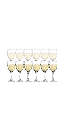 DailywareTM Set of 12 White Wine Glasses, 10.25 oz by Dailyware (In For Sale Bulk Wine Glasses)