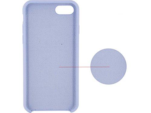 Etui de protection pour telephone Solid Silicon Case Apple iPhone 7 Violet