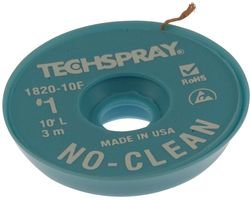 TECHSPRAY 1820-10F DESOLDERING BRAID (5 pieces)