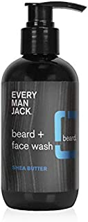 product image for Every Man Jack Beard + Face Wash - Shea Butter | 6.7-ounce - 1 Bottle | Naturally Derived, Parabens-free, Pthalate-free, Dye-free, and Certified Cruelty Free