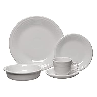 Fiesta 5-Piece Place Setting, White