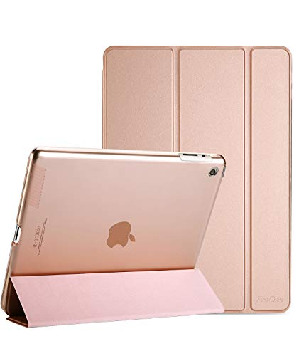 (ProCase iPad 2 3 4 Case (Old Model) – Ultra Slim Lightweight Stand Case with Translucent Frosted Back Smart Cover for Apple iPad 2/iPad 3 /iPad 4 –Rose Gold)